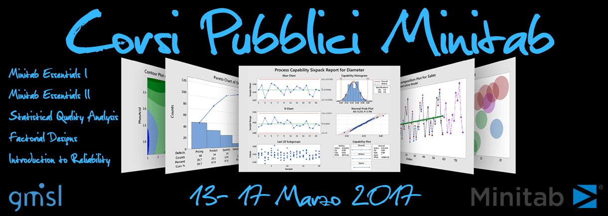 Corsi Pubblici Minitab. Milano 13-17 Marzo 2017
