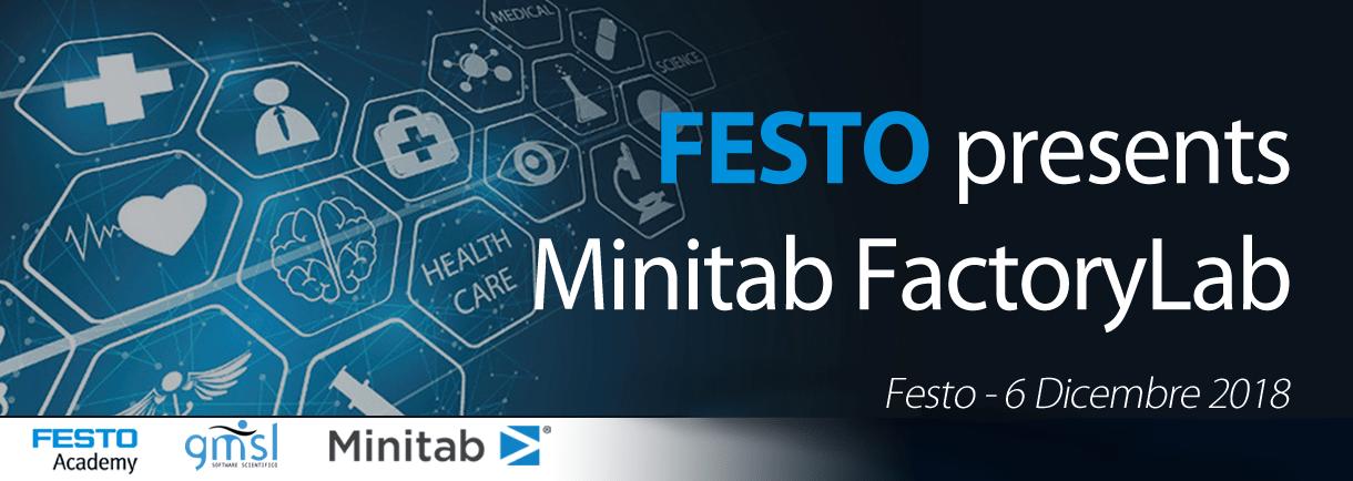 FactoryLabFesto Rivivi l'evento Minitab FactoryLab | Potenza ed efficacia di SIX SIGMA e Minitab nel settore Farmaceutico