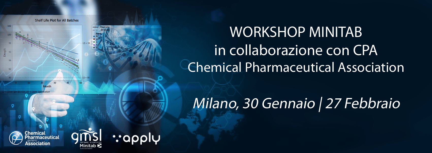 2019_01_02_CPA-1 Minitab | Workshop CPA: Processi produttivi in ambito chimico-farmaceutico: controllo, capacità e raggiungimento efficace degli obiettivi