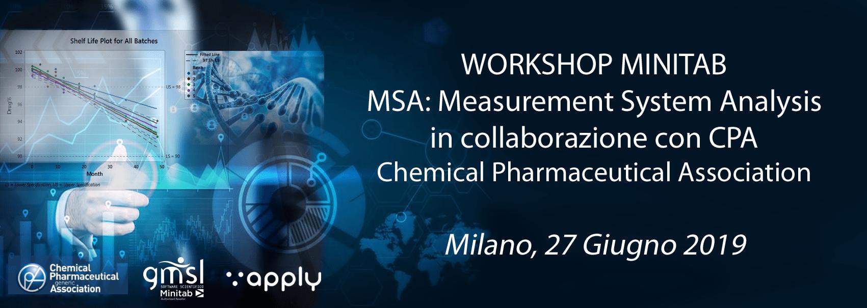 2019_05_CPA Minitab | Workshop CPA - Qualità dei processi e analisi dei sistemi di misura in ambito chimico/farmaceutico: esempi pratici per un sicuro miglioramento