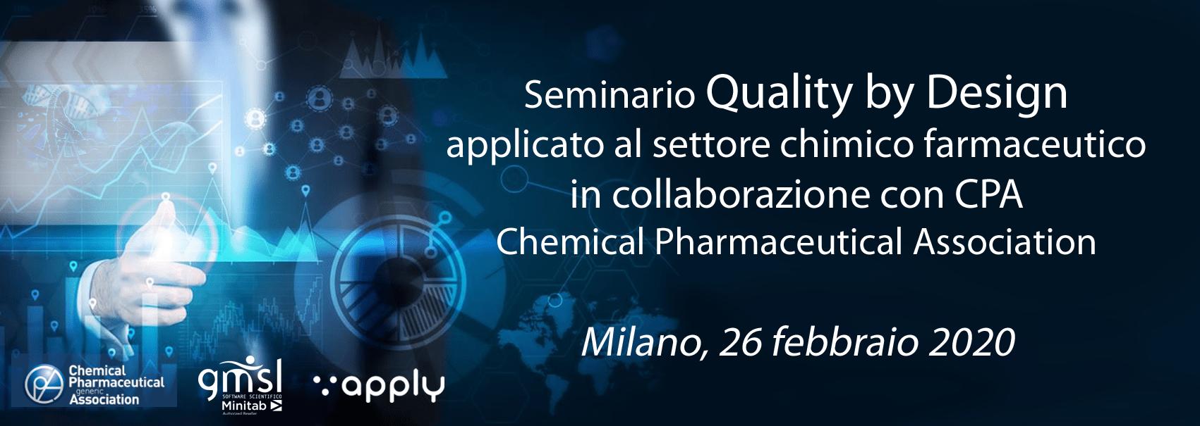 2020_02_CPA Minitab   Seminario Quality by Design per il settore chimico farmaceutico, in collaborazione con CPA