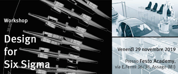 Evento_29-11-2019_BannerFesto Minitab & Companion by Minitab | Evento Design for Six Sigma. In collaborazione con Festo Academy