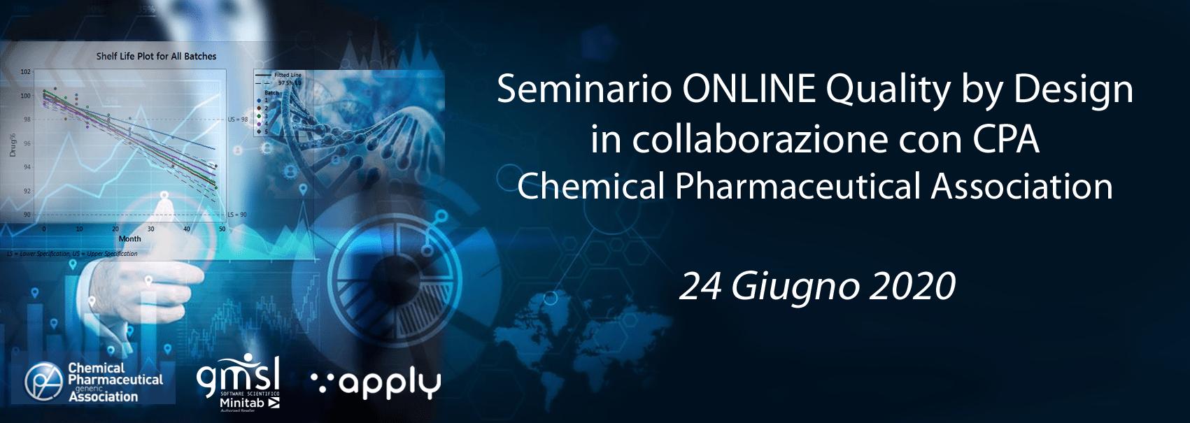 2020_06_CPA Minitab   Seminario per il settore chimico farmaceutico - Quality by Design, in collaborazione con CPA