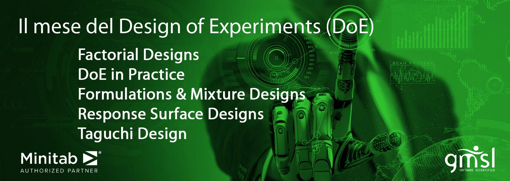 MeseDoE Minitab | CORSI UFFICIALI MINITAB - Il mese del Design Of Experiments (DoE)